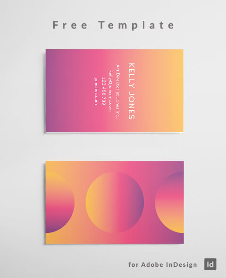 Graphic designer business card template free download free download colorful gradient business card indesign template pink to orange gradient web design flashek