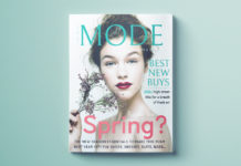 Free fashion magazine cover template. Free template download for Adobe InDesign.