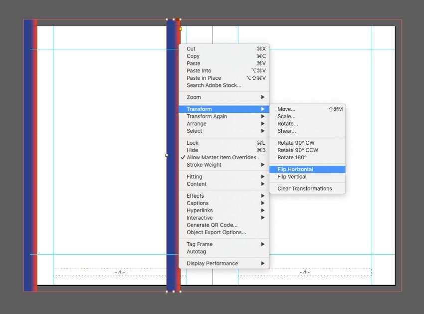 zine design indesign template flip horizontal