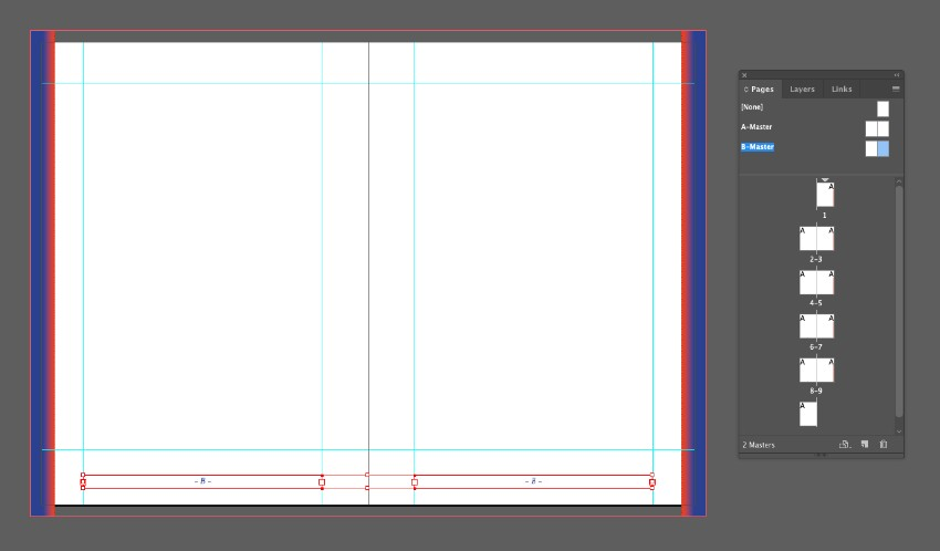 zine design indesign template colored trim