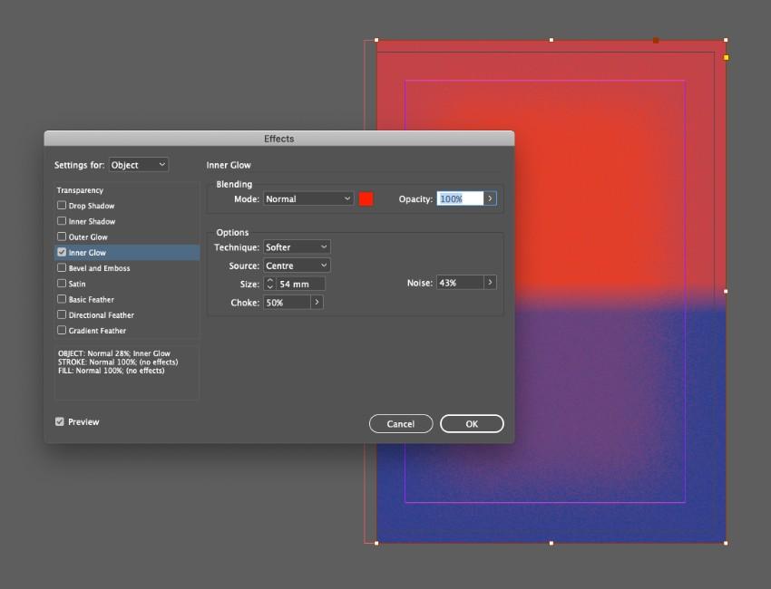 zine design indesign template noise gradient