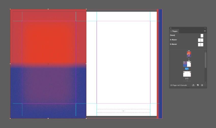 zine design indesign template gradient