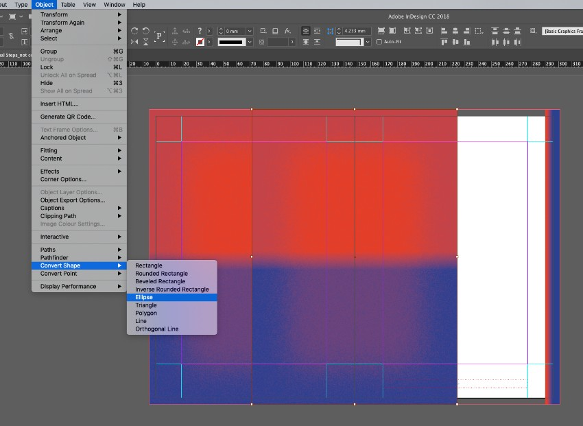 zine design indesign template paste shapes