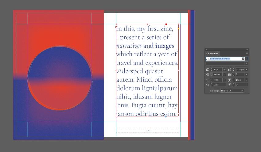 zine design indesign template text frame