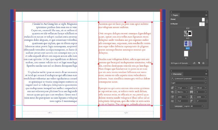 zine design indesign template typography