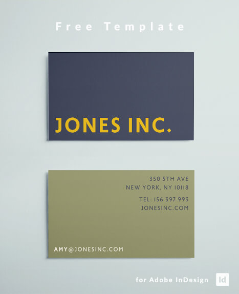 Free Business Card Template Colorful Simple - Modern Business Card Design for Adobe InDesign