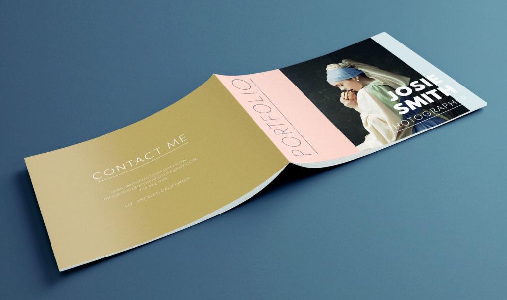 Free portfolio template for Adobe InDesign - creative design for a photography portfolio.