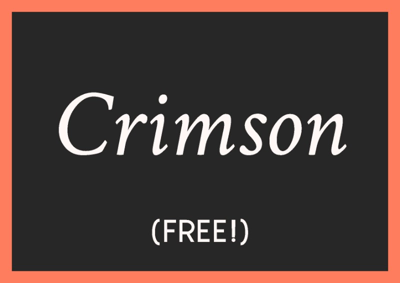 best free italic fonts crimson