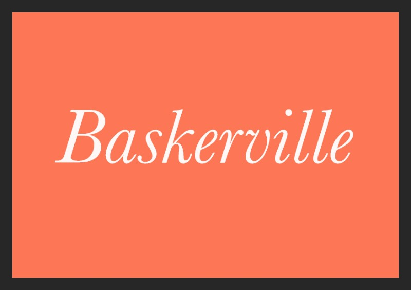 best free italic fonts baskerville