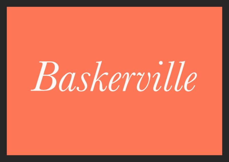 best free italic fonts baskerville