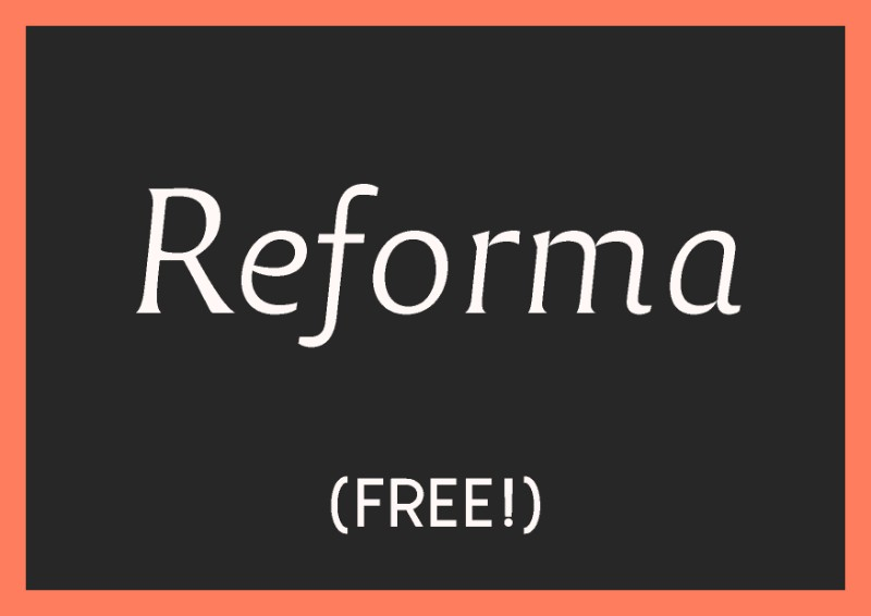 best free italic fonts reforma