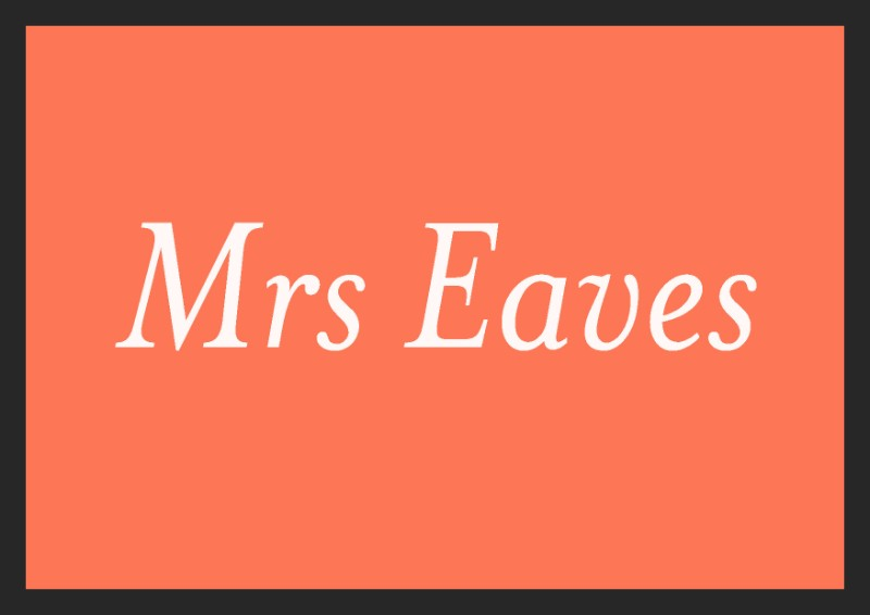 best free italic fonts mrs eaves