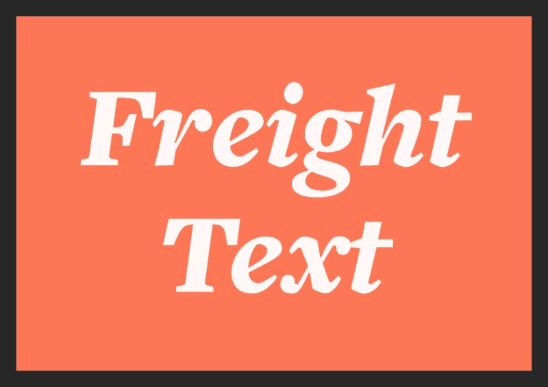 best free italic fonts freight text