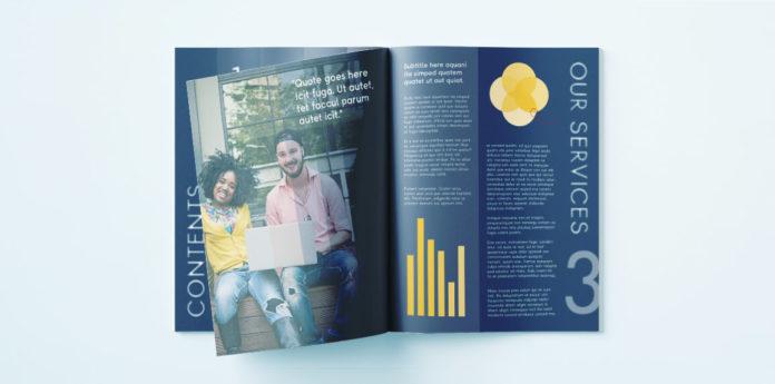Elegant Corporate Brochure Or Report Indesign Template
