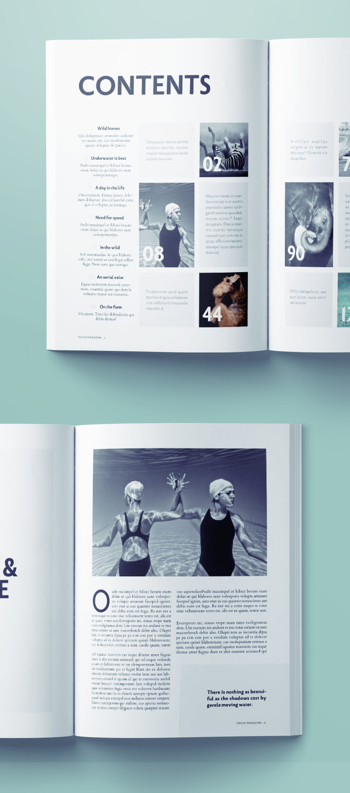 free photography magazine template for indesign - photography free downloable magazine template