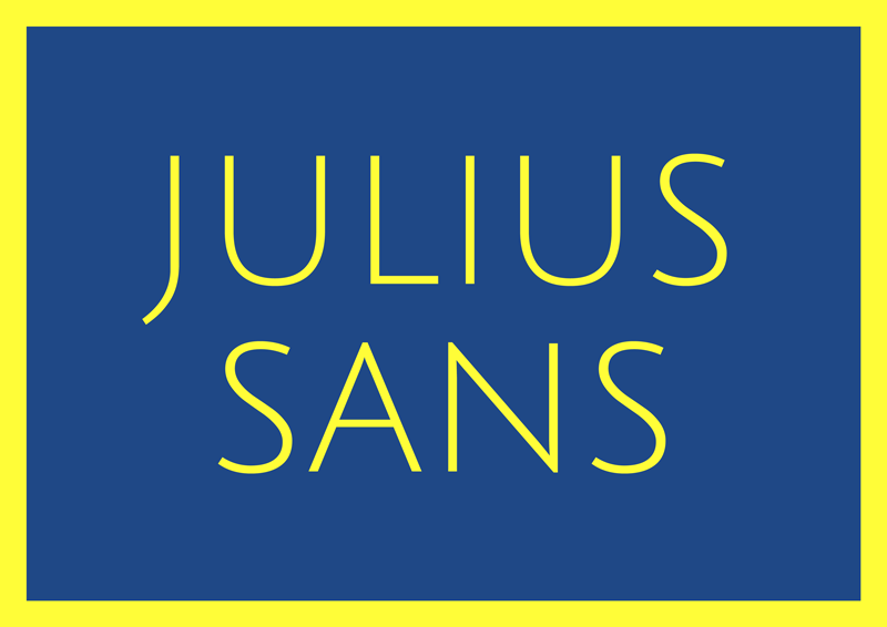 best free fonts for branding and logo design julius sans