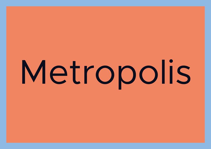 best free fonts for branding and logo design metropolis