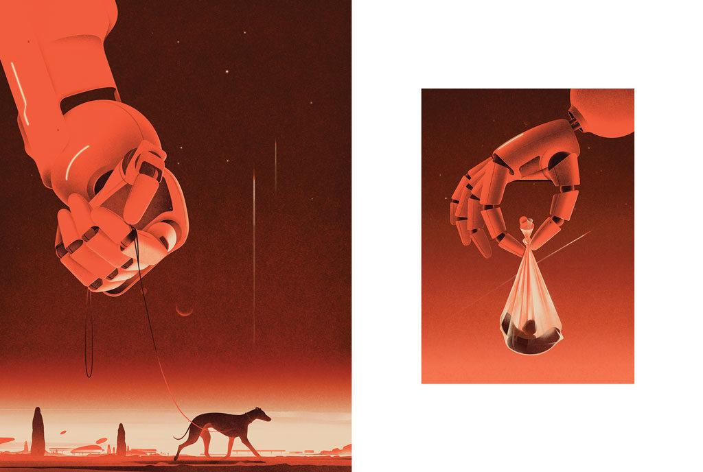 2020 creative graphic design illustration trends vintage future concepts