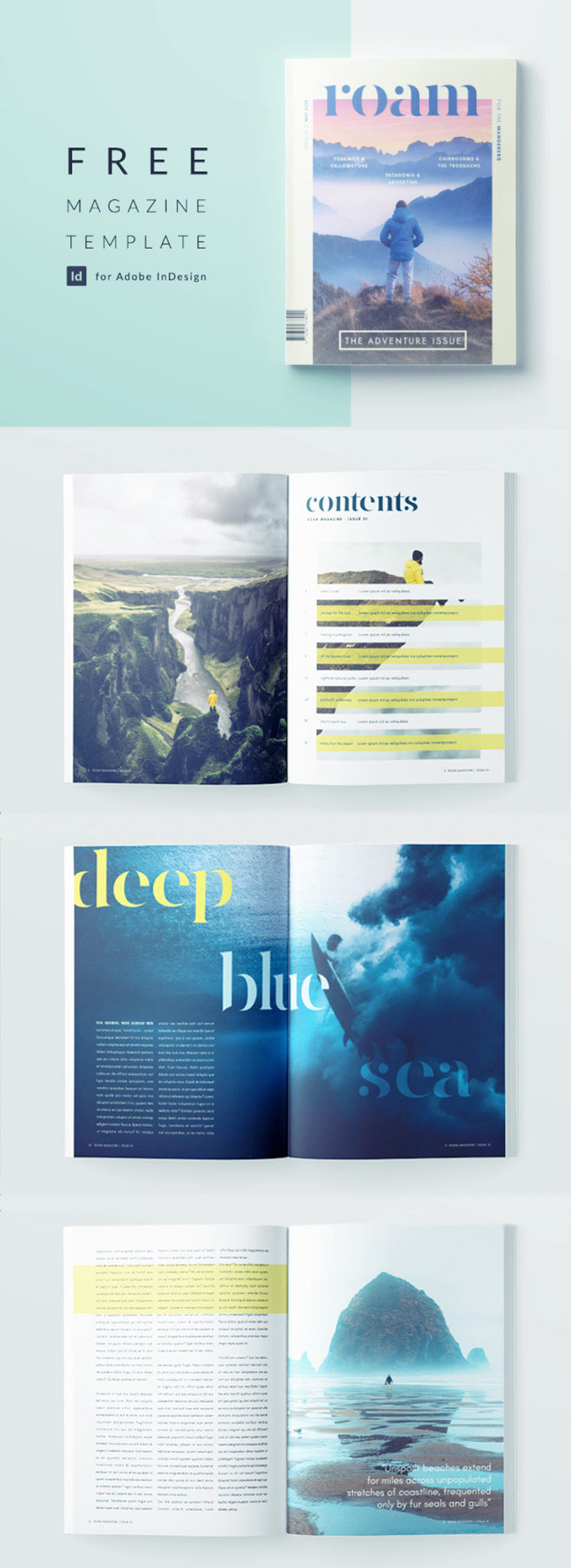 free indesign magazine template - download this professionally designed template for an indesign travel magazine
