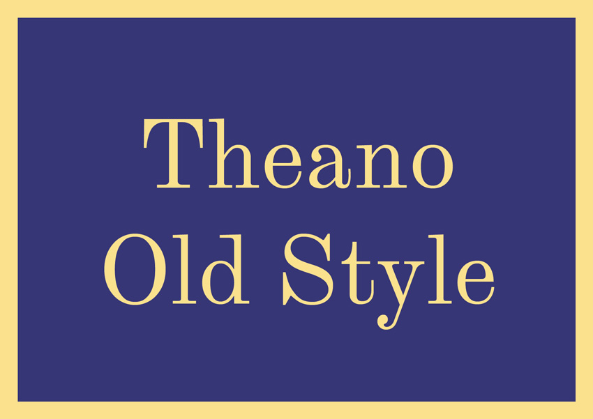 best free serif fonts traditional fonts theano old style